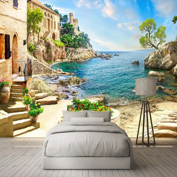 custom-3d-photo-wallpaper-castle-garden-sea-view-wall-painting-living-room-sofa-bedroom-wall-decoration-mural-papel-de-parede-3d