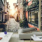 custom-wall-mural-wallcovering-city-buildings-street-view-nostalgic