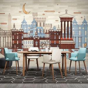 custom-3d-photo-wallpaper-hand-painted-city-building-retro-wood-plank-mural-living-room-study-room-bedroom-backdrop-home-decor-papier-peint