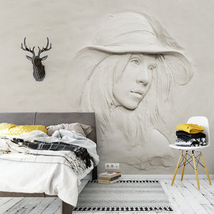 3D-creative-grey-beauty-girl-wallpaper-wall-mural-custom-bvm-home-free-shipping-bedroom