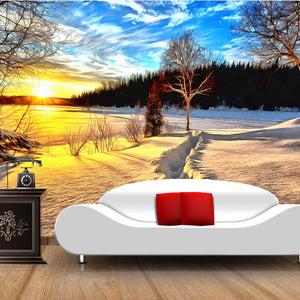 custom-wall-mural-wallcovering-nature-landscape-wallpaper-sunshine-snow