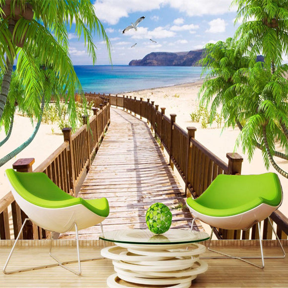 custom-wall-mural-wallcovering-nature-landscape-wallpaper-beach-sea-view