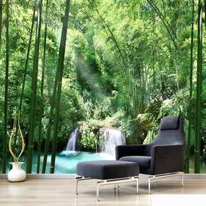 custom-wall-mural-wallcovering-nature-landscape-wallpaper-sunshine-forest-bamboo