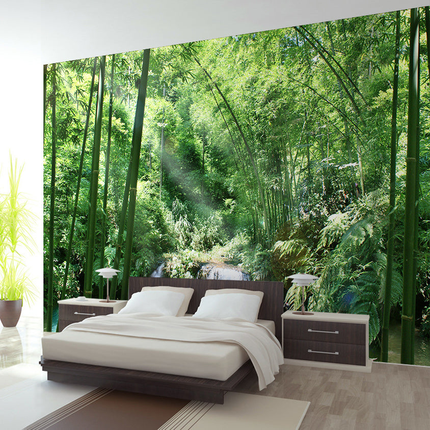 Custom Wallpaper Mural Bamboo Forest Natural Landscape
