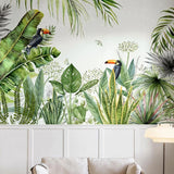 custom-mural-wallpaper-papier-peint-papel-de-parede-wall-decor-ideas-for-bedroom-living-room-dining-room-wallcovering-tropical-Plant-Banana-Leaf-rainforest-flowers-birds