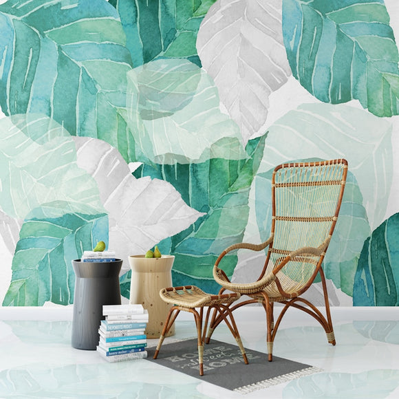 custom-any-size-3d-mural-wallpaper-nordic-modern-simple-watercolor-tree-leaf-living-room-bedroom-interior-decor-mural-wall-paper