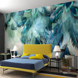 custom-any-size-3d-nordic-minimalism-blue-feather-mural-modern-abstract-art-wallpaper-wall-fresco-living-room-bedroom-wall-paper