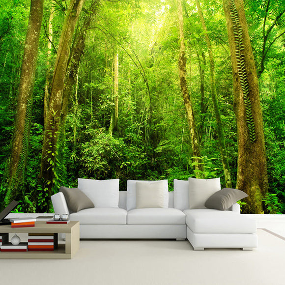 custom-wall-mural-wallcovering-living-room-decor-nature-landscape-wallpaper-sunshine-forest