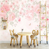 custom-mural-wallpaper-papier-peint-papel-de-parede-wall-decor-ideas-for-wallcovering-Self-Adhesive-Modern-Hand-Painted-Pink-Pastoral-Flowers