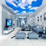 custom-wallpaper-wallcovering-ceiling-mural-blue-cloud-sky