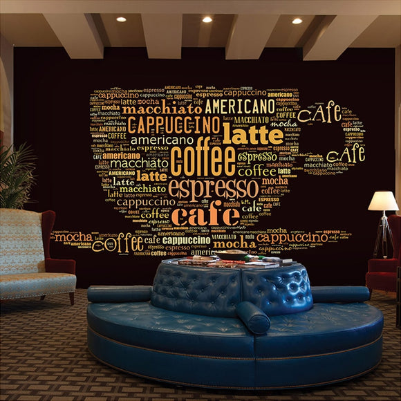 Custom Size Wallpaper Mural for Cafe Restaurant (㎡)