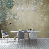 custom-mural-wallpaper-papier-peint-papel-de-parede-wall-decor-ideas-for-bedroom-living-room-dining-room-wallcovering-Retro-Nostalgic-Abstract-Leaves