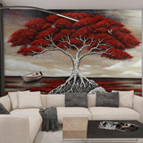 custom-mural-creative-3d-stereoscopic-hand-painted-oil-painting-red-big-tree-living-room-decoration-wallpaper-for-bedroom-walls-papier-peint