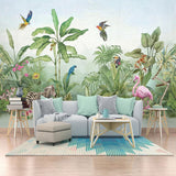 custom-mural-wall-paper-3d-hand-painted-tropical-rainforest-plants-leaf-flowers-and-birds-animal-wallpapers-living-room-tv-mural-papier-peint