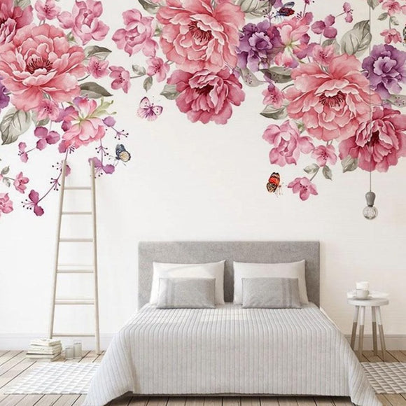 custom-mural-wallpaper-papier-peint-papel-de-parede-wall-decor-ideas-for-bedroom-living-room-dining-room-wallcovering-floral-Rose-Flowers-Oil-Painting