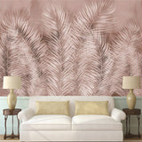 custom-mural-wallpaper-abstract-color-palm-leaf-background-wall-painting-papier-peint
