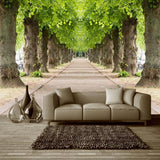 bvmhome-mural-3d-free-shipping-nature-landscape-wallpaper-sunshine-forest-road