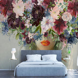 custom-mural-wallpaper-modern-hand-painted-watercolor-rose-flowers-figure-photo-wall-painting-self-adhesive-living-room-stickers-papier-peint