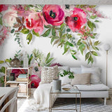custom-mural-wallpaper-3d-living-room-bedroom-home-decor-wall-painting-papel-de-parede-papier-peint-watercolor-pink-f;owers-roses