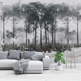 custom-mural-wallpaper-papier-peint-papel-de-parede-wall-decor-ideas-for-bedroom-living-room-dining-room-wallcovering-Retro-Nostalgic-Black-White-Abstract-Forest-Bird-Art-Wall-Painting