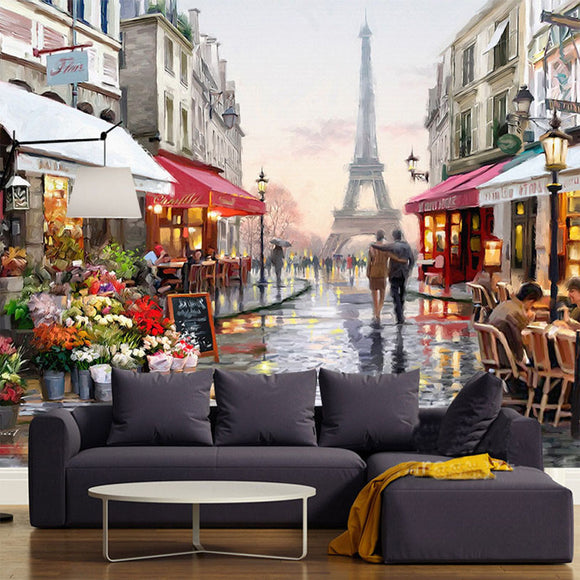 custom-wall-mural-wallpaper-wallcovering-city-view-european-style-nostalgic-paris
