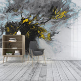 Custom Wallpaper Mural Abstract Ink Golden Art (㎡)
