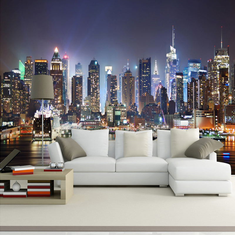 Nyc Night View Wallpaper Mural