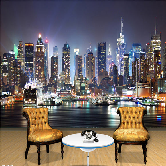 custom-wall-mural-wallcovering-city-buildings-wallpaper--night-view-new-york
