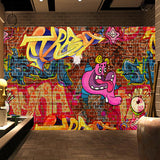 faux-brick-stone-wallpaper-graffiti