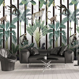 custom-photo-tropical-rainforest-animal-monkey-mural-wallpaper-modern-living-room-bedroom-background-3d-wall-papers-home-decor-papier-peint