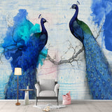 custom-mural-wallpaper-papier-peint-papel-de-parede-wall-decor-ideas-for-bedroom-living-room-dining-room-wallcovering-Chinese-Style-blue-Peacock