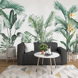 custom-mural-wallpaper-papier-peint-papel-de-parede-wall-decor-ideas-for-bedroom-living-room-dining-room-wallcovering-Hand-Painted-Tropical-Rainforest-Plant-Leaves-banana-leaves-palm-leaves