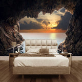custom-photo-wallpaper-3d-stereoscopic-cave-seascape-sunrise-tv-background-modern-mural-wallpaper-living-room-bedroom-wall-art