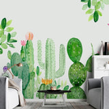 custom-mural-wallpaper-papier-peint-papel-de-parede-wall-decor-ideas-for-wallcovering-Self-Adhesive-Modern-Hand-Painted-Cactus-Tropical-Plant