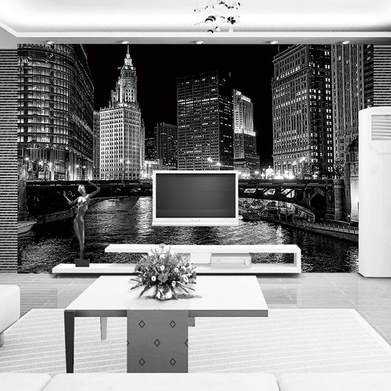 Custom Photo Wallpaper Modern Art Black And White City Photography Background Living Room Sofa TV Backdrop 27e96b96 7061 4467 ab9c