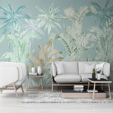 custom-mural-wallpaper-papier-peint-papel-de-parede-wall-decor-ideas-for-bedroom-living-room-dining-room-wallcovering-Hand-Painted-Tropical-Rainforest-Plant-Leaves