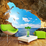 custom-any-size-cave-free-shipping-mural-nature-landscape-wallpaper-sea-view-blue-sky-wallcovering