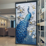 custom-any-size-3d-wall-mural-wallpaper-retro-nostalgic-wood-grain-cafe-mural-paintings-living-room-wallpaper-papel-de-parede-3d-entrance-mural-hallway-corridor-peacock-flower