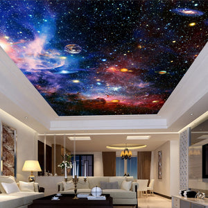 custom-3D-wallpaper-ceiling-mural-planet-star-universe-wallcovering