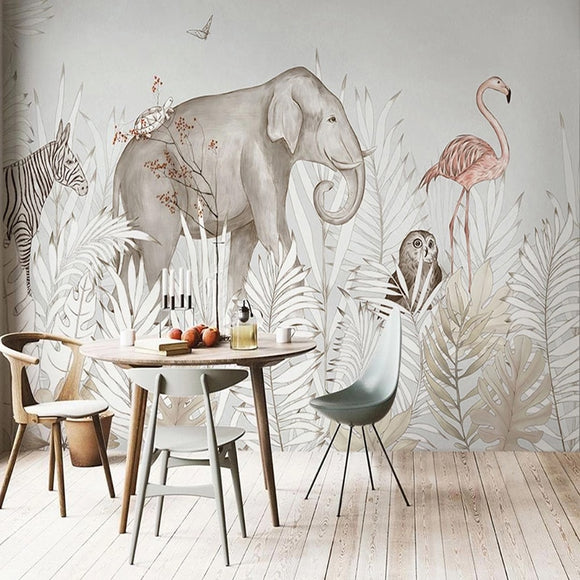 custom-mural-wallpaper-papier-peint-papel-de-parede-wall-decor-ideas-for-bedroom-living-room-dining-room-wallcovering-Self-Adhesive-Modern-Ins-Plant-Elephant-Deer-3D-Cartoon-Children-s-Bedroom-Background
