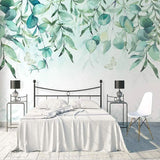 custom-mural-wallpaper-papier-peint-papel-de-parede-wall-decor-ideas-for-wallcovering-Self-Adhesive-3D-Hand-Painted-Tree-Vine-Green-Leaf