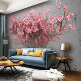 custom-mural-wallpaper-papier-peint-papel-de-parede-wall-decor-ideas-for-wallcovering-Self-Adhesive-Pink-Tree-Abstract-Art