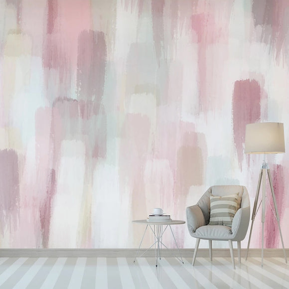 custom-mural-wallpaper-papier-peint-papel-de-parede-wall-decor-ideas-for-wallcovering-Self-Adhesive-Wallpaper-Modern-Pink-Abstract-Watercolor-Painting