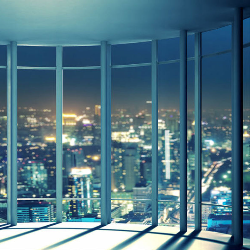 Custom 3D Wallpaper Mural City Night View From The Window