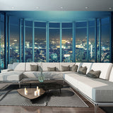 custom-3D-wall-mural-wallcovering-city-buildings-wallpaper-night-view