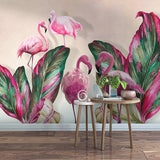 custom-wall-mural-banana-leaf-flamingo-waterproof-canvas-painting-wallpaper-for-bedroom-study-room-living-room-art-decoration-3d-papier-peint