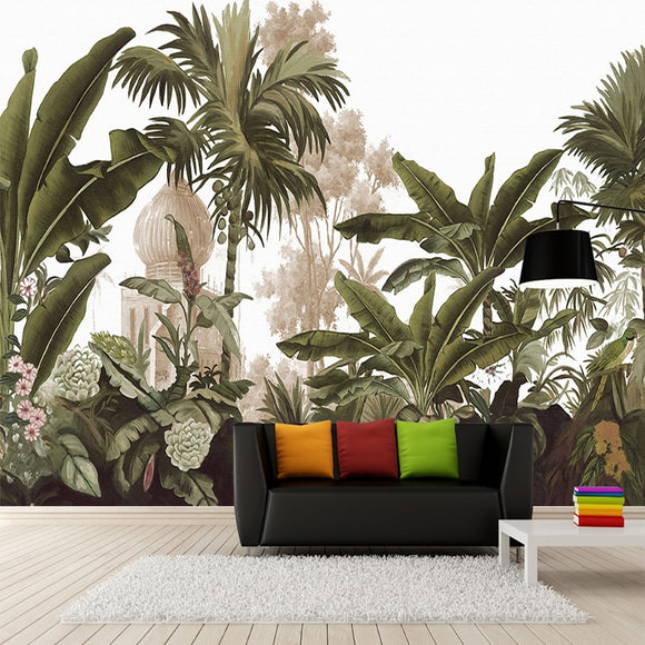 custom-wall-mural-non-woven-wall-paper-hand-painted-rain-forest-banana-leaves-living-room-sofa-large-murals-wallpaper-home-decor