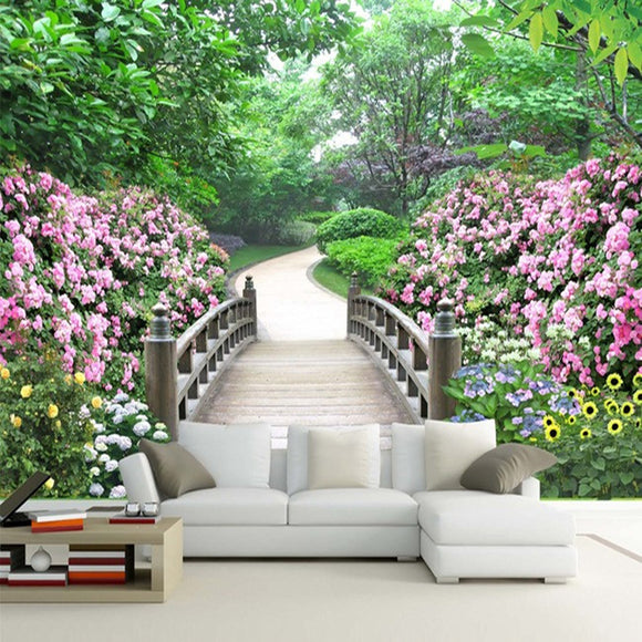 custom-wall-mural-wallcovering-nature-landscape-wallpaper-garden-flowers