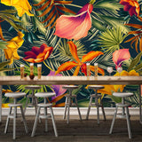 custom-wall-mural-tropical-rainforest-plant-flowers-banana-leaves-backdrop-painted-living-room-bedroom-large-mural-wall-paper