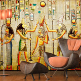 Creative-Wallpaper-egyptian-figures-wall-mural-wallcovering-free-shipping